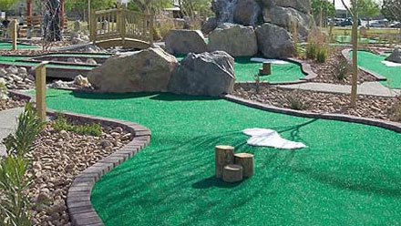 Our mini-golf course is perfect for all ages.